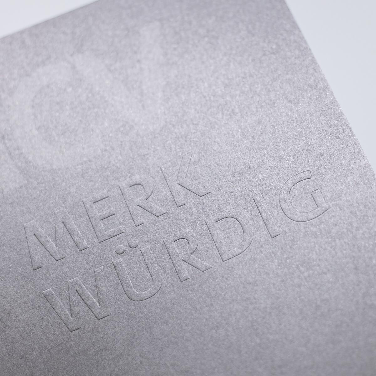 Druckerei Wenin - Verdedelung - Prägung