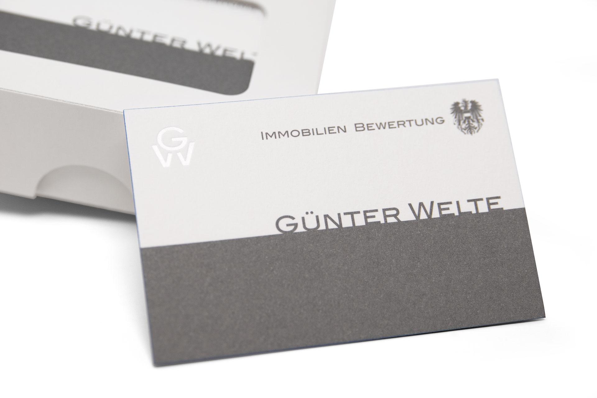 Druckerei Wenin - Günter Welte Visitenkarten